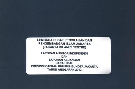 LAPORAN AUDIT HIBAH JIC TAHUN 2012